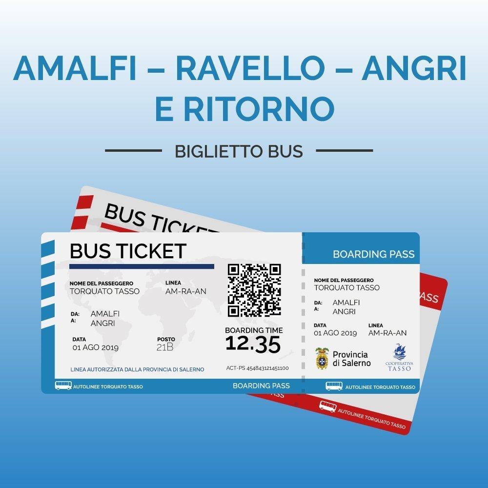 Biglietti AMALFI – RAVELLO – ANGRI E RITORNO