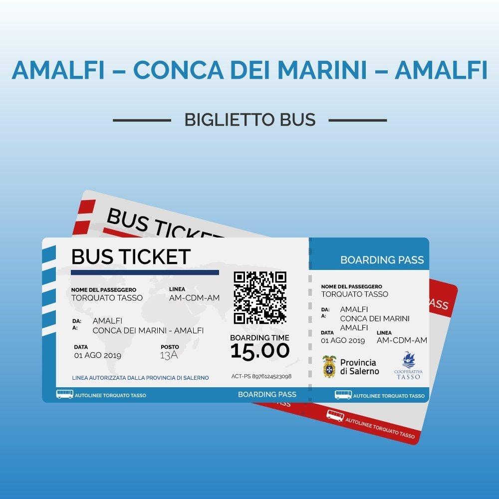 Biglietti Amalfi Conca dei Marini Amalfi