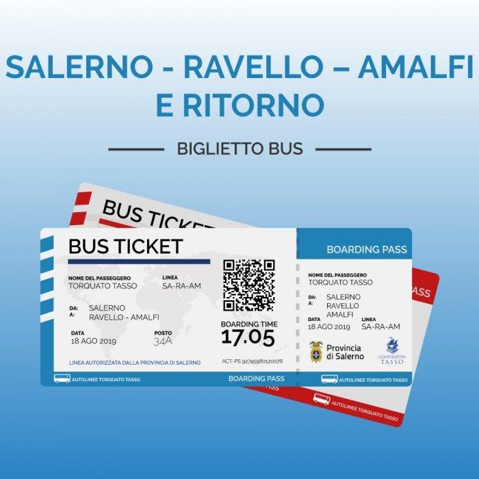 Biglietti SALERNO – RAVELLO – AMALFI E RITORNO